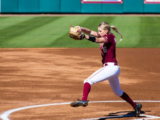 Florida State redshirt senior pitcher Jessica Burroughs
