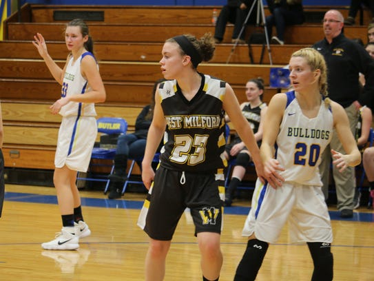 Both the West Milford and Butler girls' basketball