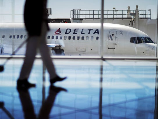 FILE - In this Oct. 13, 2016, file photo, a Delta Air