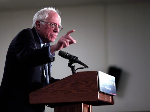 Democratic presidential candidate, U.S. Sen. Bernie