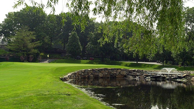 The 18th hole at Hampshire Country Club in Mamaroneck is shown in this file photo. The golf course could be plowed under for development under a new proposal from the property's owners. They said it will remain open until construction is underway.