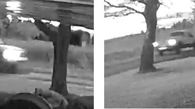 Security camera images of truck sought by Michigan State Police in a hit-and-run.