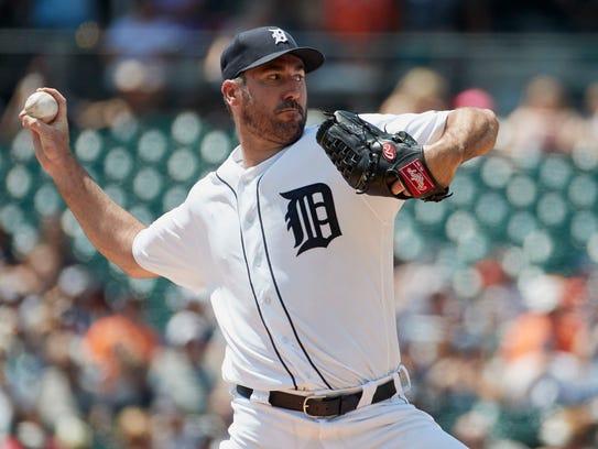 Jul 30, 2017; Detroit, MI, USA; Tigers starting pitcher
