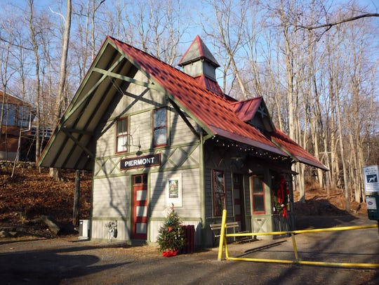 Visit the historical train station in Piermont as part