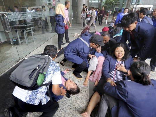 APTOPIX Indonesia Structural Collapse