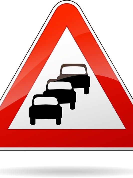 traffic jam sign