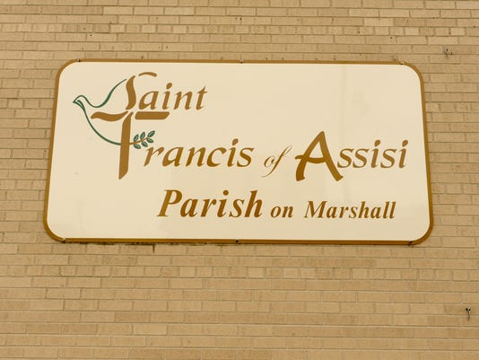 St. Francis of Assisi Parish on Marshall sign