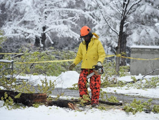 Photos from Monday's spring snowstorm on March 28,