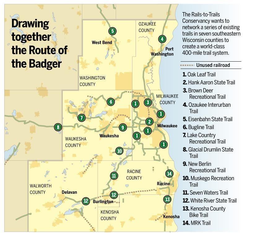 Trails in southeastern Wisconsin make for biking bliss