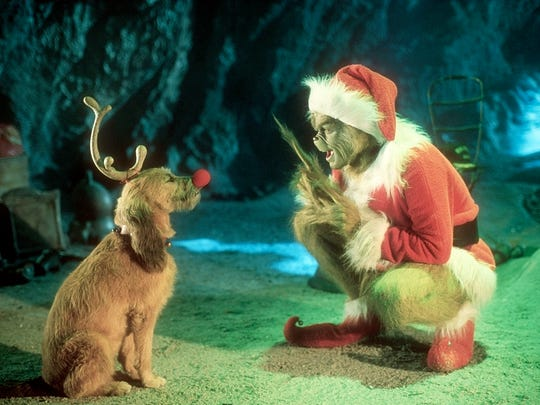"Jim Carrey plays the title character in ""How the Grinch Stole Christmas."""