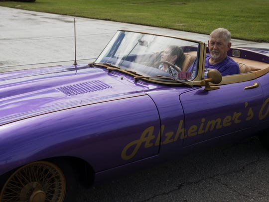 Lehigh Acres resident Dan Summers is the sole caregiver for his wife Joan. Joan is in the later stages of Alzheimer's. Summer is raising awareness for the disease and caregivers.  He has transformed a 1968 Jaguar XKE he purchased in  1979 into a billboard for the awareness of disease.