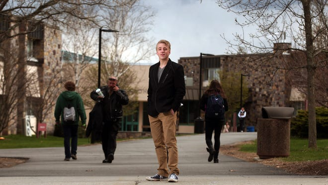 """Jayson Kohut, 21, of Jefferson attends County College of Morris in Randolph and has incurred student loan debt as a result. """"My father said an education used to be an investment in the future that would pay off, but now it's a gamble,"""" Kohut said."""