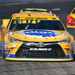 Kyle Busch finished 37th Sunday after blowing a tire at New Hampshire Motor Speedway.