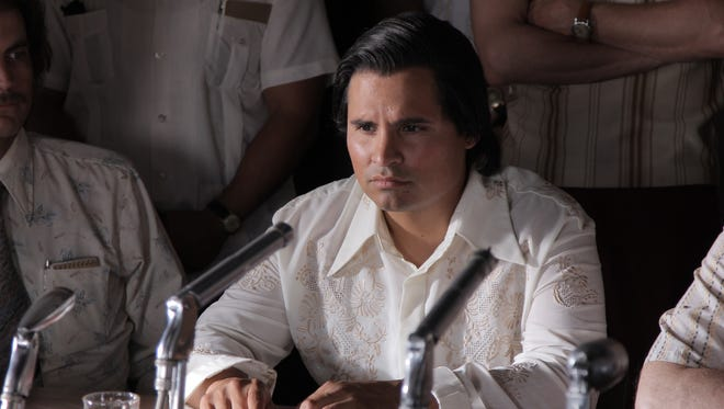 Michael Peña portrays civil rights activist and labor organizer Cesar Chavez in 'Cesar Chavez.'