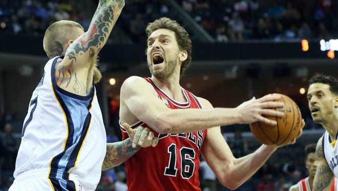 Chicago Bulls forward Pau Gasol (16) might not play for Spain at this summer's Olympics.