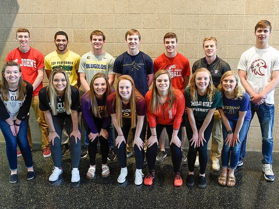 Students from Sauk Rapids-Rice High School are recognized