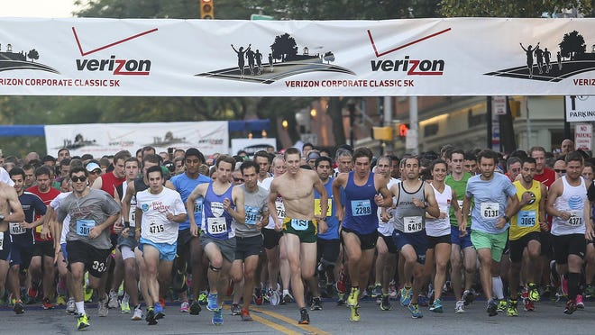 Hundreds of runners turned out for the 2014 Verizon Corporate Classic 5K, with the starting line at Morristown's Headquarters Plaza.