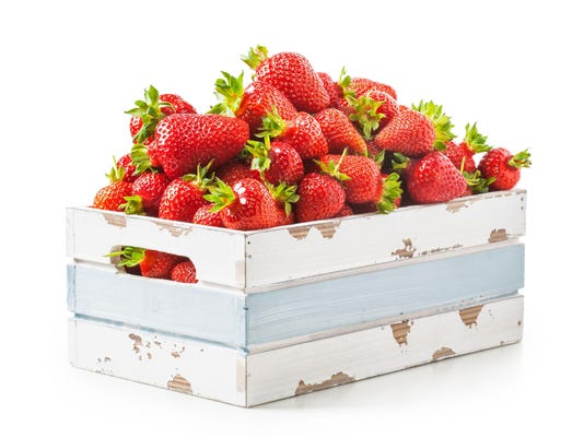 Strawberry in crate
