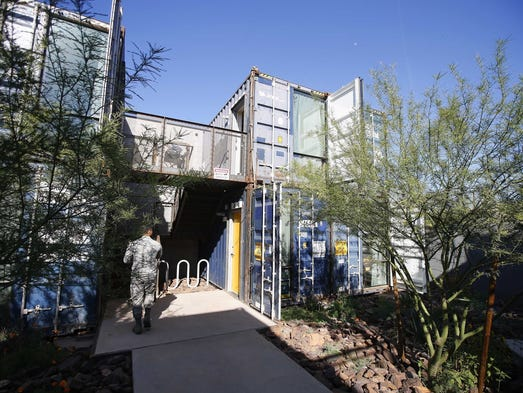 1st shipping-container apartments in Phoenix open for viewing