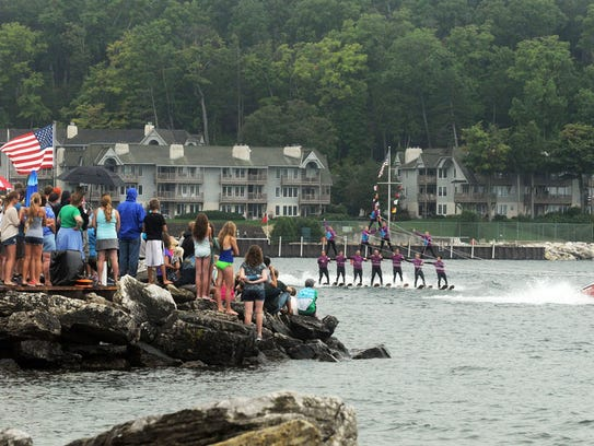 Waterboard Warriors entertains the crowd during Marina
