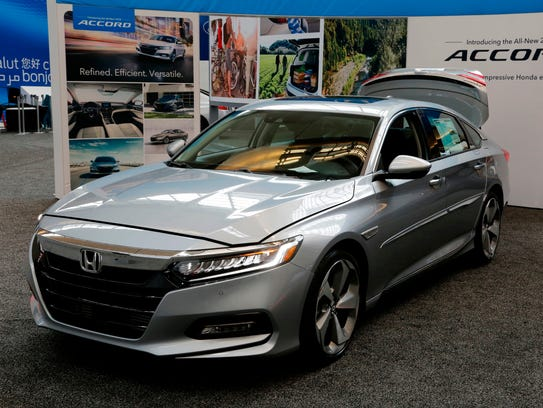 The 2018 Honda Accord on display at the Pittsburgh