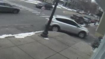 Video surveillance shows the moment just before a hit-and-run in Pittsford.