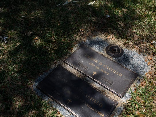 Victor Castillo grave site in the Memory Gardens Cemetery,