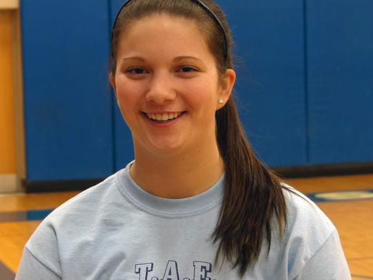 Former Edison athlete Chelsea Storch, who plays softball at Elmira College.
