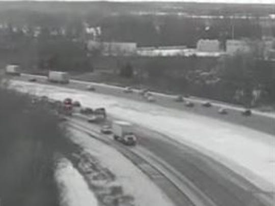 View from a Michigan Department of Transportation camera at I-275 and Palmer in Canton.