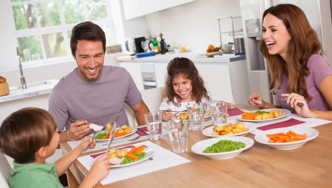 Parents who eat vegetables themselves during family meals set good examples for their children. Veggies shouldn't be bartered for dessert, since this makes kids think dessert is more enjoyable.