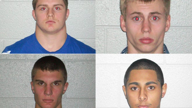 Clockwise from top left: James Bishop, Justin Ponder, Vincent Curto, Tyler Garren.