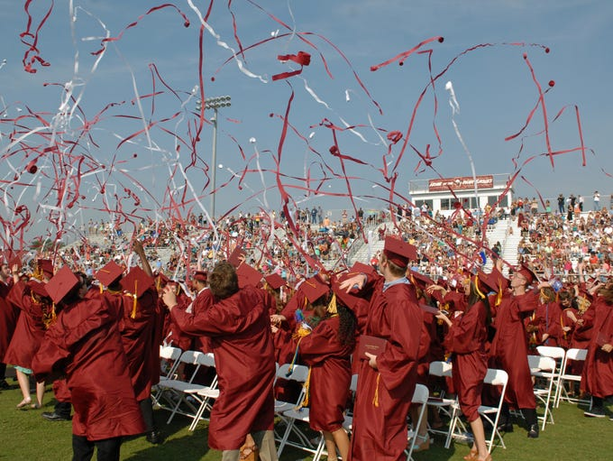The Astronaut High School class of 2014 graduation was held  Saturday morning, May 24th, at the the school's football stadium.