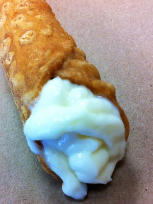 Cannoli is one of the dessert offerings at Pizzoni's in Titusville.