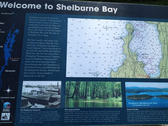 A map of Shelburne Bay on Lake Champlain at the boat access off Harbor Road.