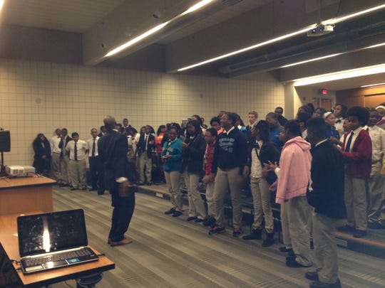 Keenan West, an anti-bullying speaker and recording artist, got students at University Preparatory Science & Math Academy moving this morning as they performed a song written for the OK2SAY campaign.