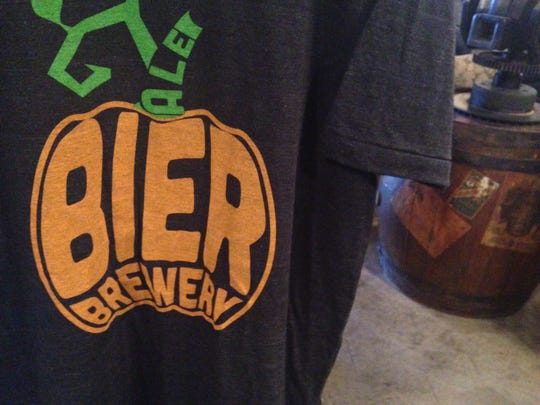 Stop 2: Bier Brewery merchandise is available for purchase. They have received quite the reputation for their pumpkin ale.