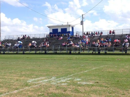 Hughes Gus Malzahn Field crowd