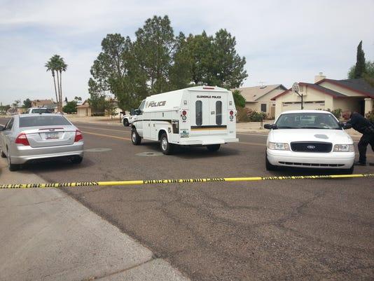 Glendale stabbing scene