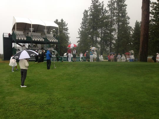 Play resumes at the American Century Championship