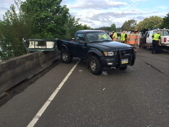 A five-vehicle crash on the Center Street Bridge snarled the morning commute for many drivers in West Salem May 28, 2014.
