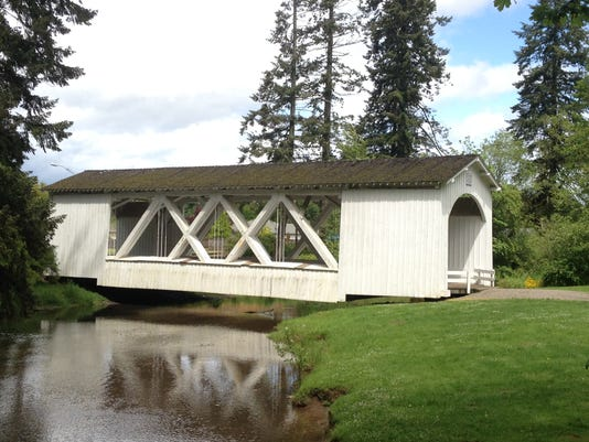 Jordan Bridge in Stayton's Pioneer Park