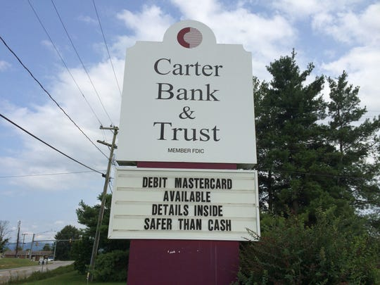 Authorities with the Augusta County Sheriff's Office and the Virginia State Police were looking for a suspect who allegedly robbed Carter Bank and Trust in Weyers Cave on Tuesday.