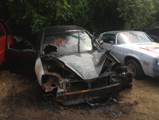 Burned-cars