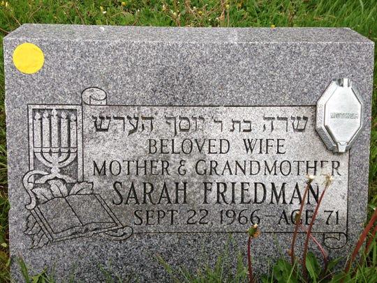 2014-05-16-sarah-friedman-grave