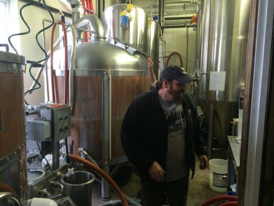 Yup, Hinterland's Scott Kissman was in the brew house at Titletown Brewing Co.