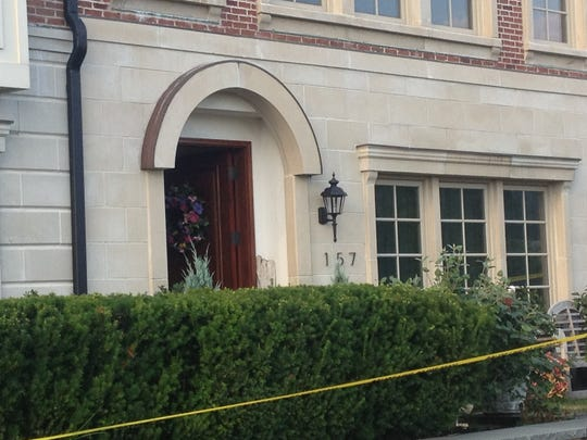 The scene outside the Tarrytown townhouse where 23-year-old Megan Bookstaver was shot and killed Monday, Sept. 2, 2013. Her boyfriend, Eric Gaulin was charged April 15, 2014, with manslaughter and criminally negligent homicide.