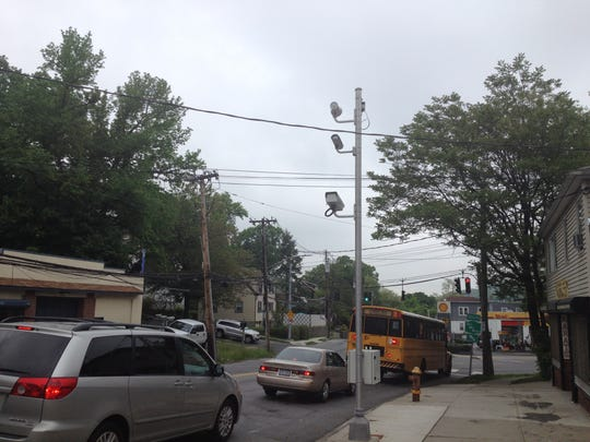 A file photo showing red light cameras in Yonkers.