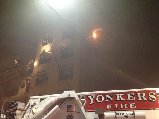 Crews respond to a fire at 189-191 Saratoga Ave., which started about 10:30 p.m., August 9, 2014.