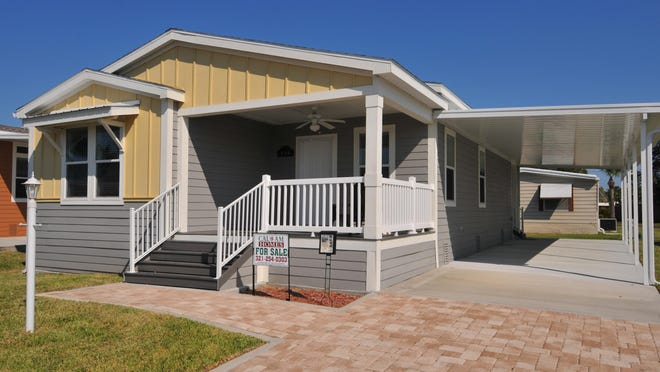 Lamplighter Village in Melbourne offers beautiful manufactured homes and many amenities to its residents, including a pool, club house, mini golf course, Bocci ball and landscaped grounds. The Summer Haven is a 1,340-square-foot model with three bedrooms.