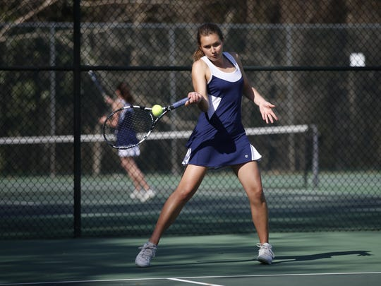 Mary Kathryn Healy is healthy and playing No. 1 singles and doubles for the Marauders' tennis team.